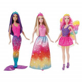 Set 3 papusi Barbie Zana Printesa Sirena CKB 30 Mattel