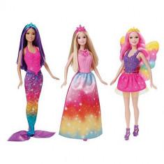Set 3 papusi Barbie Zana Printesa Sirena CKB 30 Mattel - Papusa