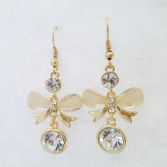 Cercei placati cu aur de 9k, tip fluture