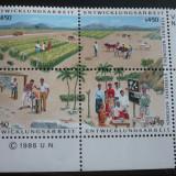 NATIUNILE UNITE VIENA 1986 – AGRICULTURA, BLOC MNH UN55 - Timbre straine, Nestampilat