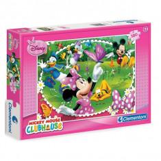 Puzzle Minnie, Mickey, Donald si Daisy in poienita cu fluturi 180 pcs Clementoni