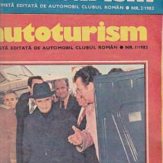 Bnk div Revista Autoturism - anul 1983 complet - 12 numere - stare buna