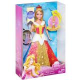 Papusa Printesa Aurora si rochita magica CBD13 Mattel, 4-6 ani, Plastic, Fata
