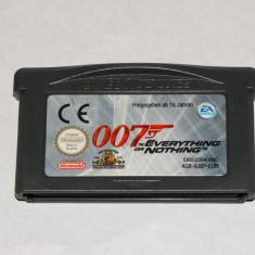 Joc Nintendo Gameboy Advance GBA - 007 Everything or Nothing - Jocuri Game Boy Altele, Actiune, Toate varstele, Single player