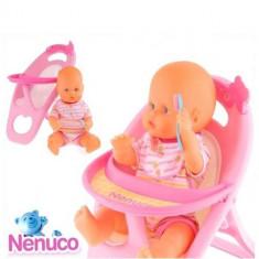 Jucarie Papusa bebelus Nenuco cu scaun de masa FNE8185 Famosa