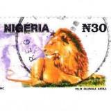 NIGERIA, leu, stampilat - Timbre straine