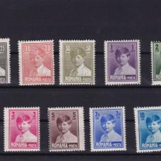 ROMANIA 1928/29, LP 77, MIHAI FORMAT MARE FARA FILIGRAN USOARE URME SARNIERA - Timbre Romania, Nestampilat