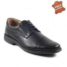 Pantofi barbati piele naturala SOFTPLUS negru (Marime: 43) - Pantof barbat, Casual