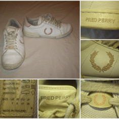 Adidas FRED PERRY (41) piele pantofi sport casual barbati - Adidasi barbati, Culoare: Din imagine