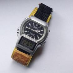 Ceas Casio Ana-Digi AW-61, Vintage, ceas rar, Modul 1750 - Ceas barbatesc Casio, Sport, Quartz, Analog & digital, 1970 - 1999, 100 m / 10 ATM