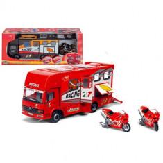 Camion cu rulota si loc pt transport motocicleta Race Trophy 3414861 Dickie