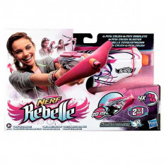 Pistol Nerf Rebelle Pink Crush - Roboti de jucarie