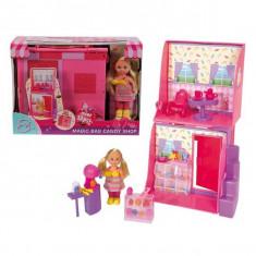 Jucarie Magic Bag Candy Shop Valiza magica Cofetaria lui Evi 5737126 Simba - Papusa Simba, 4-6 ani, Plastic, Fata