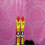 Vand set ski/schiuri copii +bete +clapari-80 cm-250 lei