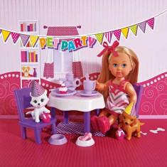 Papusa Evi Pet Party petrecere cu animale 5732831 Simba, 4-6 ani, Plastic, Fata
