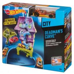 Jucarie pista Hot Wheels - Curba mortala CDL 86 Mattel - Masinuta