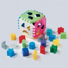 Cub potrivire forme geometrice 18 pcs 5017 Dohany Toys - Set de constructie