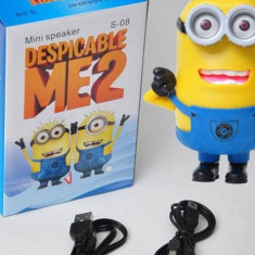 Mini Boxa portabila Despicable me Minion cu suport USB