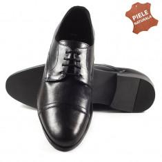 Pantofi barbati piele naturala GIANNY negru (Marime: 41) - Pantof barbat, Casual