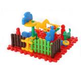Cuburi de construit tip vafa - mini ferma cu animale 31 pcs - Set de constructie