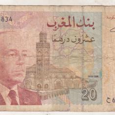 Bnk bn Maroc 20 dirhams 1996 - bancnota europa