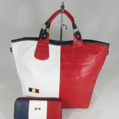 Set dama geanta si portofel Tommy Hilfiger+CADOU - Geanta Dama Tommy Hilfiger, Culoare: Din imagine, Marime: Mare, Geanta de umar, Asemanator piele