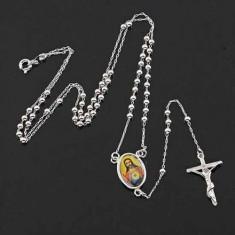 Lantisor cu cruce placat cu aur alb de 9k - Lantisor placate cu aur, Unisex