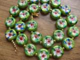 Colier cloisonne verde mar - banuti