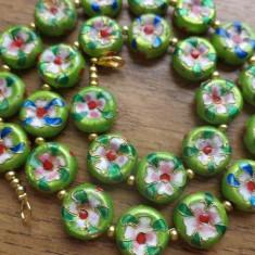 Colier cloisonne verde mar - banuti - Colier fashion