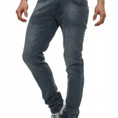 Blugi Barbati Crosshatch Gri Slim Fit Jeans Joggan, Marime: 30, 32, 34, 36, Culoare: Din imagine