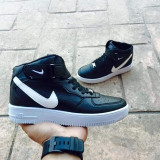 Adidasi unisex gheata NIKE AIR FORCE ONE Negru cu alb marimi 36 - 44 - Adidasi dama Nike, Culoare: Din imagine, Marime: 37, 43, Piele sintetica