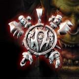 Lant cu Pandantiv Logo Orc Horde - Warcraft, World of Warcraft, WoW, Dota