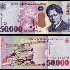 50000 LEI 2000 UNC NECIRCULATA - Bancnota romaneasca
