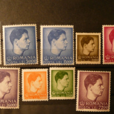 VOC 1947 LP 212 Uzuale Mihai I- format mic și mare MNH - Timbre Romania, Nestampilat