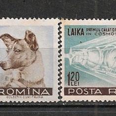 Romania.1957 Catelusa Laika AX.228 - Timbre Romania, Nestampilat