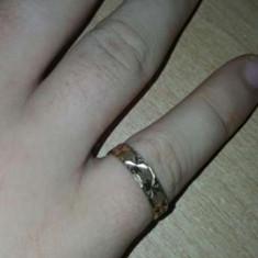 Verigheta superba lucrata in penita de aur manual foarte veche