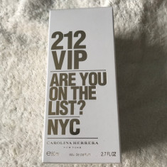 Parfum Carolina Herrera 212 vip are you on the list? Nyc 80 ml sigilat - Parfum femeie Carolina Herrera, Apa de parfum