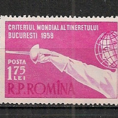 Romania.1958 Criteriul mondial de scrima AX.232 - Timbre Romania, Nestampilat