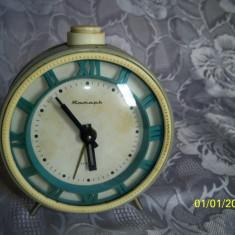 Ceas desteptator rusesc anii 70 perfect functional - Ceas de semineu