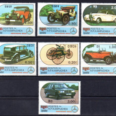CAMBOGIA 1986, Automobile, serie neuzata, MNH - Timbre straine, Nestampilat