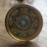 Inel cabochon geometric pe baza bronz