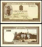 500 LEI 22 iulie 1941 filigran orizontal UNC necirculata