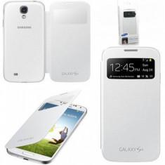 Husa smart flip cover S-view Samsung Galaxy S4 IV I9500 - ALB - Husa Telefon