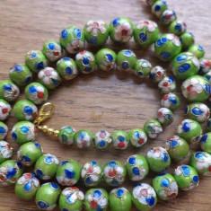 Colier cloisonne verde mar - sfere - Colier fashion