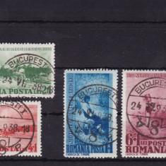 ROMANIA 1938, LP 127 CENTENARUL NASTERII N. GRIGORESCU STAMPILATE 24/06/1938 - Timbre Romania