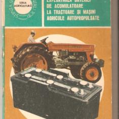 Exploatarea bateriei de acumulatoare la tractoare si masini agricole - Carti auto