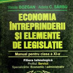 Economia intreprinderii si elemente de legislatie - manual pentru clasa a XI-a - Carte Administratie Publica