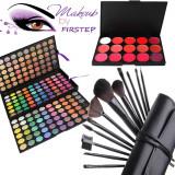 Trusa machiaj profesionala MAC 180 culori + set 12 pensule makeup CADOU tus ochi, Mac Cosmetics