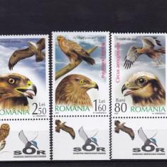 ROMANIA 2007, LP 1760 a, PASARI DE PRADA CU TABS SERIE MNH - Timbre Romania, Nestampilat