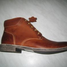 Pantofi barbati piele naturala WINK; cod HL6411-1;marime:41-46 - Ghete barbati Wink, Marime: 45, Culoare: Camel